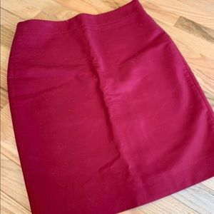 Gorgeous Crew Pencil Skirt 6 Raspberry